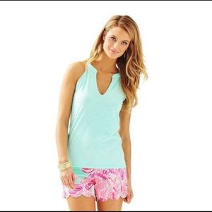 Lilly Pulitzer Arya Top - Poolside Blue